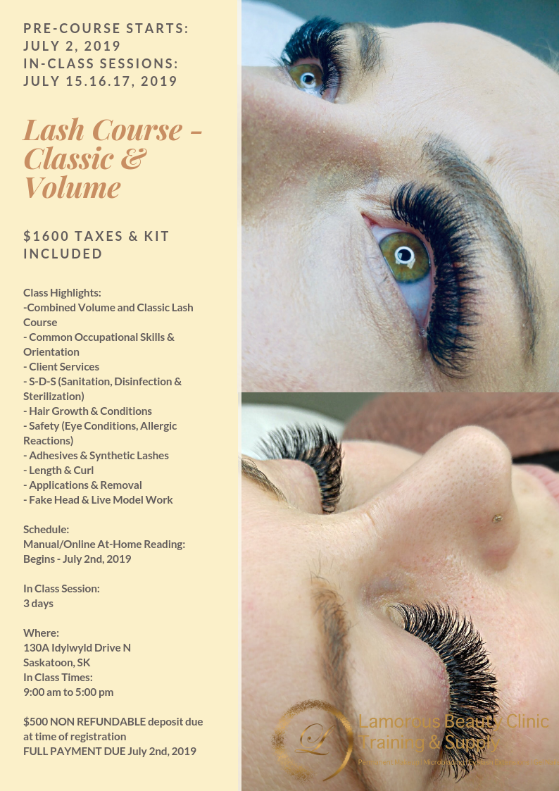 Saskatoon Microblading, PMU, Eyelash Extensions Training and Supplies