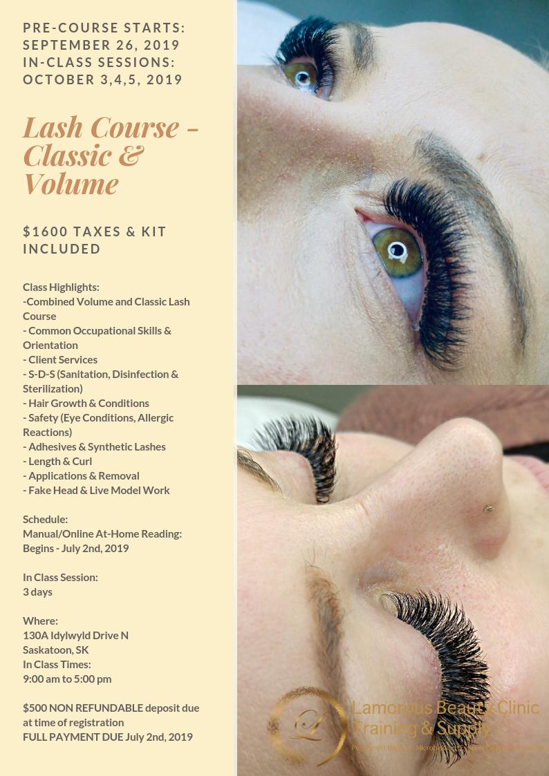 Saskatoon Microblading, PMU, Eyelash Extensions Training and